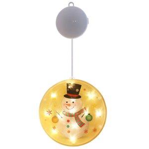Ornements de quarantaine de Noël LED Snowman DIY Famille Veillering Pendentif Personnalisé LED Light Christmas Festive Festive Arbre Décoration EWD284