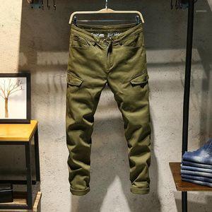 Classdim uomo elastico skinny jeans jeans di buona qualità cotone esercito verde jeans lunghi jeans nuovi uomini moda sottile solido casual1