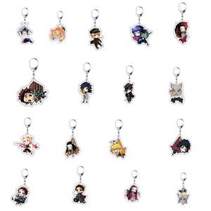 New Anime Demon Slayer Kimetsu No Yaiba Cosplay Keychain Hashibira Inosuke Acrylic Pendant Key Chain Key Ring Toys Gifts 10pcs