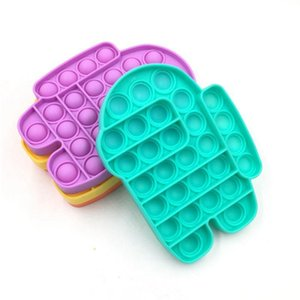 Entre los niños EE. UU. Push Bubble Bubble Fidget Toys Pop It Toys Gifts Stress Reliever ayuda a 2021 juguetes de compresión en caliente