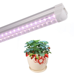 LED plant growth light T8 integrated bulb indoor and outdoor leafy plant light v-tube tube lamp