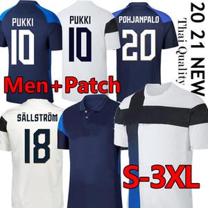 3XL Thai Finland Футбольные трикотажки 2020 2021 Suomi Национальная команда Главная Белый Голубой Пукки Скрабд Райтала Дженсен Мужчины Футбольные рубашки