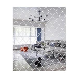 Diamond Pattern Mirror Wall Sticker Diy Living Room Decor 3d Mirror Wall Stickers Home Decoration Crafts Diy bbyIYQ bdesports
