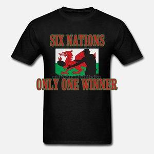 Шесть Wales Наций один победитель Mens 6 Регби Welsh Спорт Фан-дизайнеры Present балахона футболки толстовки