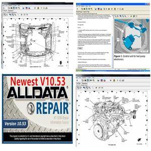 640GB HDD USB 3.0'da iyi fiyat 2020 oto tamir yumuşak eşya araç teşhis aracı ALLDATA ve ALLDATA 10.53 sürümü yumuşak eşya