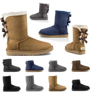U 2020 boots vintage GG Scarpe da donna Alta Stivali di design di lusso Stivali da donna Pelle Neve invernale Caviglia blu navy grigio Stivaletti con Scarpe da ginnastica