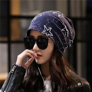 1 Adet Kadın Gorras Beanies Caps 2020 Yaz pamuk baskılar Ekleme Havalandırma Seyahat Başörtüsü Bayanlar Casual Skullies Şapkalar