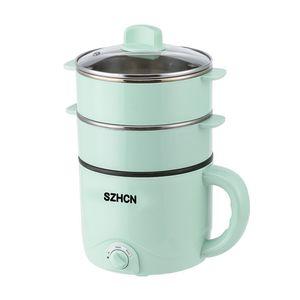 220 V Mini électrique multifonction cuisine machine de ménage simple / double couche Hot Pot multi électrique Rice Cooker antiadhésive