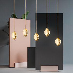 Nordic Simple Luxury Metal Crystal Pendant Lamp Restaurant Bedside Villa Art Chandelier Home Living Room Fixture