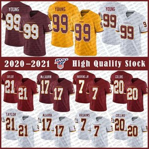 99 Chase Young WashingtonRedskin Football jersey 21 Sean Taylor 17 Terry McLaurin 7 Dwayne Haskins 20 Landon Collins Stitched jerseys