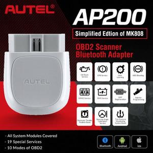 Strumento diagnostico del lettore di codice di Autel Bluetooth Adapter AP200 OBD2 OBD2 System Scanner completa AutoVIN TPMS Immo Service PK 808 MX808 lgMo #