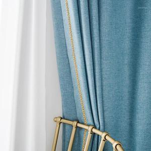 Rideau d'électricité rzcortinas pour salon chambre à coucher moderne coton épais rideau de draps géométrique stores solides isolants Drapé1