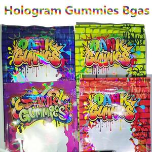 New Dank Gummies Mylar Bags Zip Lock 500MG Zipper Bag Resealable Smell Proof Edibles Bags for Dry Herb Flower Tobacco Packaging Edible