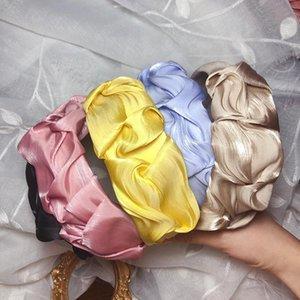 Importato dalla Corea del Sud lustro madreperlaceo d'argento ampio fasce per capelli giapponese coreano agenti di acquisto fascia pieghettata Weep Yafeng Lui