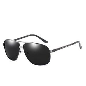 Hombre hombre gafas de sol conduciendo gafas de sol hombres metal polarizado conductor negocio gafas de sol polarizadas de alta gama de gama alta diseñadora de marca GLA WDPL