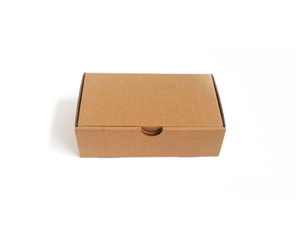 Blank Kraft Paper Gift Boxes Mailer Shipping Box Corrugated Carton Wedding Gift Package Christmas Party Favor Wrap Boxes WB3428