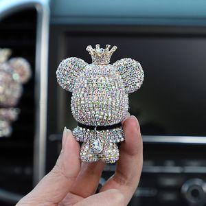 Aromaterapi klip arabalar hava çıkışı yaratıcı elmas kaplı şiddet ayı parfüm klip aromaterapi araba hava çıkış parfüm çıkış gitmesine ayılar