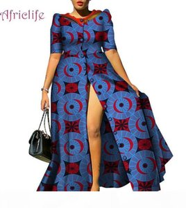 2019 African Dresses for Women Causal Print Long Dresses Bazin Riche Dashiki Women African Traditional Clothing WY4209