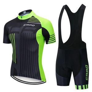 2019 Nouvelle équipe Capo Hommes Jersey Jersey Costume Vélo Cycle Vêtements Été Short Sleeve Bicycle Chemise Shorts Set Sport Uniforme Sports Y062006