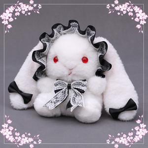 Lolita Umhängetasche Nette Plüsch Spitze Geldbörse Bogen Kaninchen Puppe Handtasche 01-SB-RXTZGZ C1223