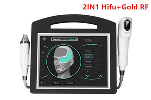 2IN1 4D Hifu Gold Micro Needle Radio Frequency Fractional RF Focused Ultrasound 3D Hifu Machine DHL Fast Ship