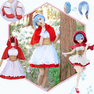 Anime Re Life a Different World from Zero Ram Rem Cosplay Costume Little Red Riding Hood Full Set Halloween