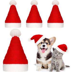 Haustier Weihnachtsmütze Weihnachtskatze Hund Winter warme Plüsch-Kappen-Weihnachtspartei-Dekor Cute Pet Cosplay Dekor JK2010PH