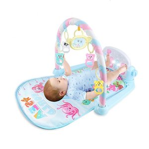 Baby Lay And Gym Playmat 3 In 1 Fitness Music Pleasure Boys Girls Stand Pedal Piano Children Toys Dropshipping