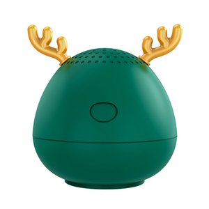 Christmas Gift Bluetooth Speaker Home Outdoor Portable Cute Cartoon Antlers Wireless Mini For All Smartphones Subwoofer Suitable
