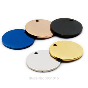 Wholesale 100Pcs Stainless Steel Round For Dog Tag Pet ID Tags Name Engravable Dog Tags Name Pendant Dog ID Tag Necklace Jewelry 210201