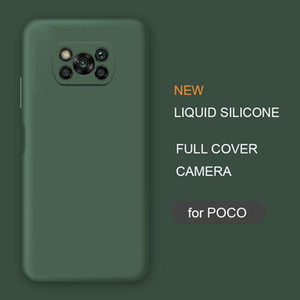 New Full Cover Liquid Silicone Phone Case For Xiaomi Poco X3 Nfc M2 F2 Pro X2 global Original Soft Protective Back Covers Cases