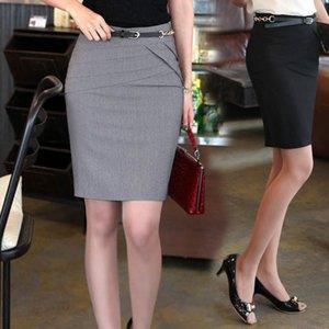 Женский элегантный короткий костюм юбки офисные работы формальные дамы одежда мода весна лето тонкий женский дикий карандаш юбка 4XL Y200704