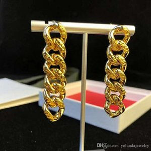 Special Valentine's Day Gift for Girl Friend Yellow Gold Plated Long Chain Earrings for Girls Women for Wedding Party