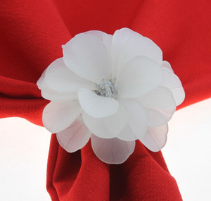 free shipping beads flower napkin ring flower napkin holder for wedding many colors 201124