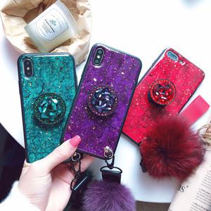 Marble glitter tpu cover diamond rhinstone finger ring holder designer case for iphone 12 mini 12 pro max Samsung S20FE S20 NOTE20 Ultra