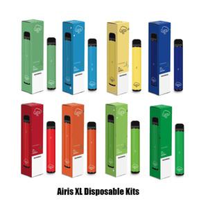 Otantik Airis XL Tek Pod Cihazı 1200 Puff 850mAh 5ml Prefilled Taşınabilir Vape Çubuk Kalemler Bar Artı XXL Max% 100 Orijinal 12 Renkler
