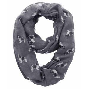 Cavalier King Charles Spaniel Dog Print Womens Infinity Loop Tube Scarf Wrap Soft Lightweight Pet Puppy Gift Idea