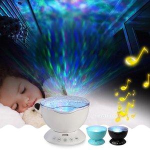 Vente en gros -Kids enfants Espace bébé Nouveauté à distance Waves Sea Control Ocean Led Projecteur Night Light Music Box