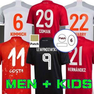 20 21 21 Sane Soccer Jersey Lewandowski Hernandez Gnabry Muller Football Company Coman Kimmich Alba Davies Men Kids Set Neuer حارس مرمى الزي