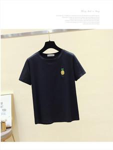 2020 Fashion Embroidery Print Fruit T Shirt Women Short Sleeve Short T Shirt Women Teenagers Shirts Tops O Neck Tees Girls