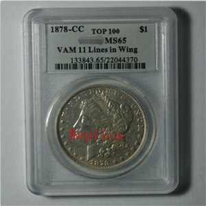 Replica Free Shipping Morgan One Dollar PCGS 1878 8TF  1878-CC MS64 MS65 MS63