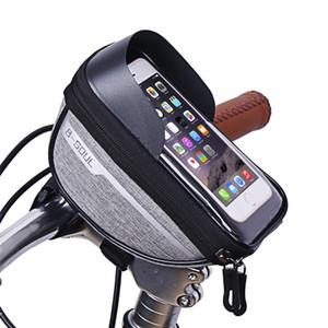 Cyclisme Vélo Bicyclette Tube Tube Houssine Cellule de téléphone portable Sac de boîtier Porte-coque Sac à montage sur écran Sacs pour 6,5 pouces