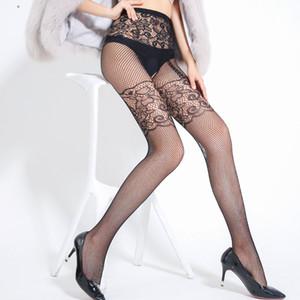 Jacquard Bas Sexy Open Open File Pêche Net Pantalon Fun Network Chaussettes Sangles Collants pour faire de l'érection des hommes Augmenter les armes à feu de sexe
