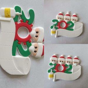 PEZ4 Gran Navidad Hugger Topper Decoración de Santa Reindeer Navidad árbol Muñeco de nieve Holiday Invierno Fiesta Ornamento Suministros FWE1257