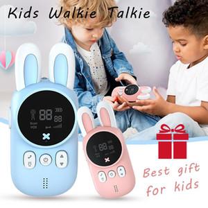 Cute Mini Kids Walkie Talkie Wireless Intercom Child Radio Toys Two Way Radio 1-3 km Transmitter Camping Family Children Gift