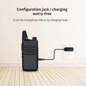 Restoran Otel Süpermarket Yürüyüş İçin Telsiz Kemer Clip Şarj Taşınabilir Walkie Talkie Radyo İstasyonu Transceiver USB