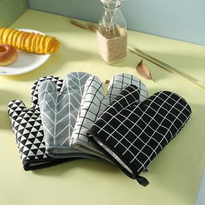 Résistant à la chaleur Gants pour barbecue épais four à micro-ondes pour la cuisine Gants de cuisson au four extérieur Barbecue Grill Utiliser des gants BWF1241