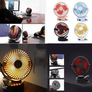 Clip On Fan USB Desk Fan con luce LED regolabile a 360 gradi per bambini