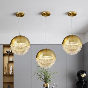 Modern Gold Metal Crystal Pendant Light Living Room Bedroom Villa Hotel Home Ceiling Lamp Chandelier Fixture