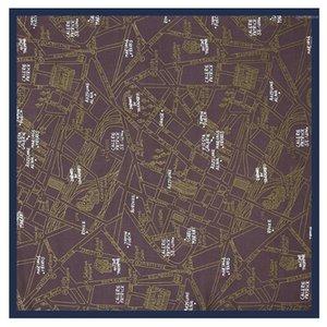 Lesida seda bufanda mujer letras impresas bufandas cuadradas de lujo bandejas pequeñas hijab especificadas señora corbata diadema 53x53cm1